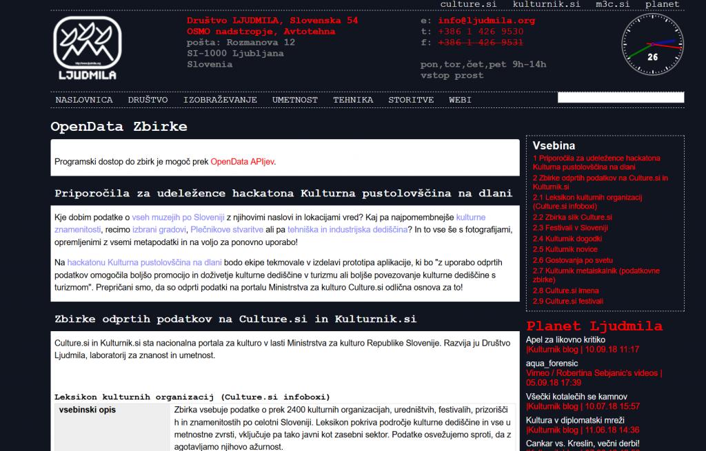 open data ljudmila wiki